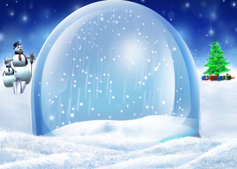 Рисунок зима снег снеговики скачать