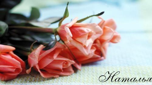 Открытка розы для наташи с днем 123